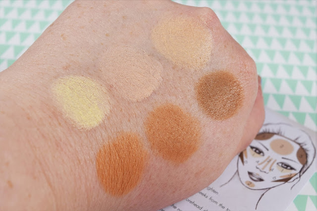 Sleek MakeUP Cream Contour Kit in Light Swatches