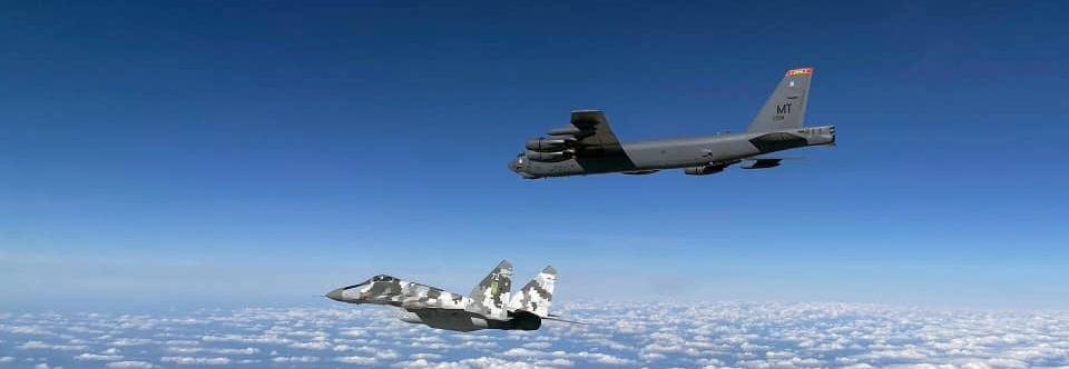 US strategic bombers were escorted by fighter jets of Ukrainian Air Force