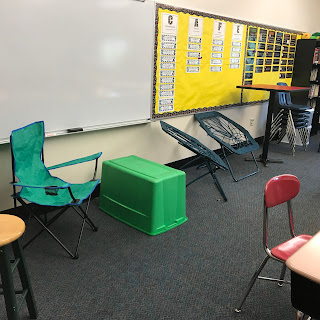 flexible seating, alternative seating, classroom design