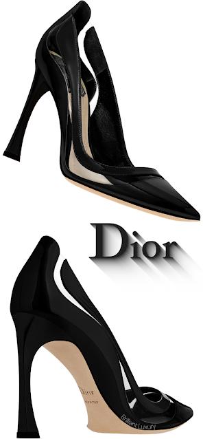 Black Dior Transparent Pumps #brilliantluxury