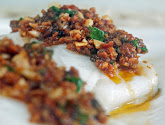 steamed cod with crispy beans