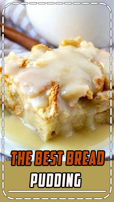 When it comes to easy recipes this Bread Pudding couldn't get any simpler. Filled with cinnamon and nutmeg this makes the perfect breakfast or dessert recipe.  #breakfast #breadpudding #breadpuddingsauce #brunch #dessert #baking #baked