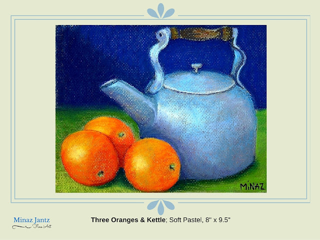 Three Oranges & Kettle by Minaz Jantz