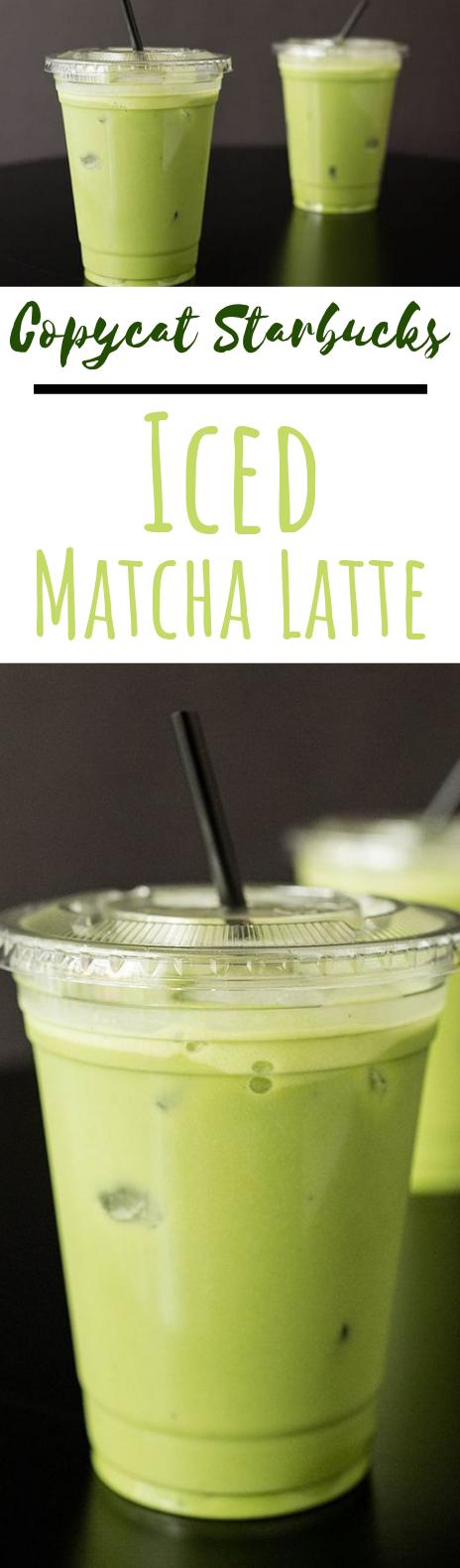 Copycat Starbucks Iced Matcha Latte #drinks #latte