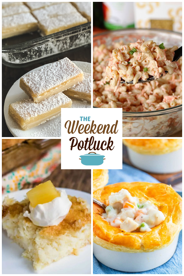 A virtual recipe swap with Old-Fashioned Lemon Bars, Hawaiian Macaroni Salad, 2-Ingredient Pineapple Angel Food Cake, Homemade Chicken Pot Pie and dozens more!