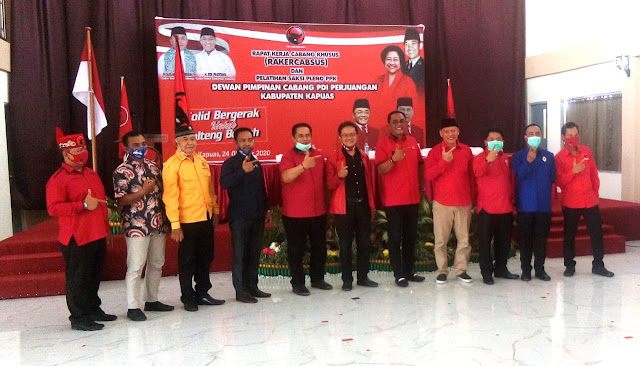 Jelang Pilgub Kalteng 2020, PDIP Kapuas Gelar Rakercabsus Dan Latih Saksi Pleno PPK