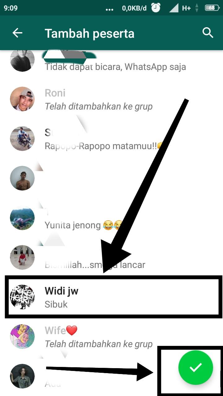 Cara menambah anggota grup WA