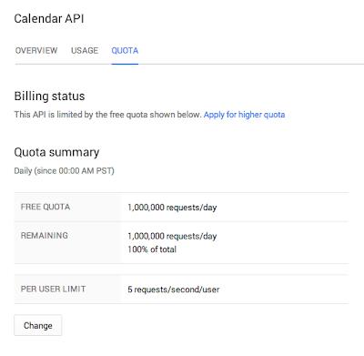 Image of Calendar API