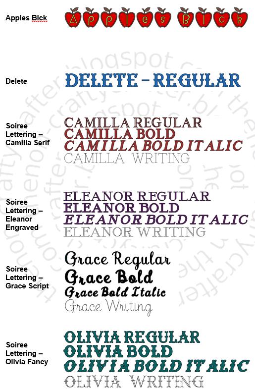 Cricut Font List : cricut, Non-Crafty, Crafter:, Cricut, Fonts