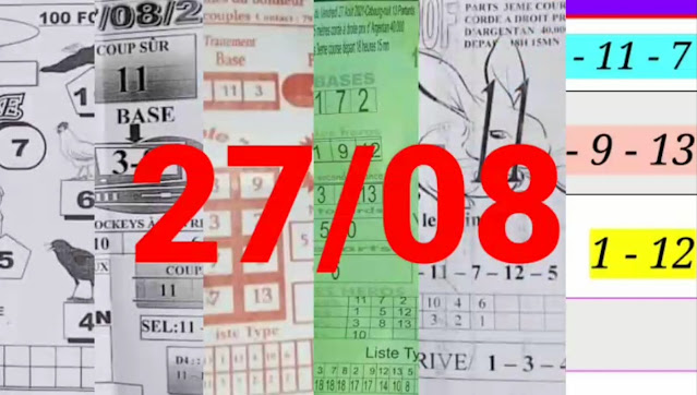 Pronostics quinté+ pmu vendredi Paris-Turf-100 % 27/08/2021