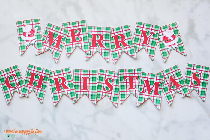 free merry christmas banner printable i should be mopping the floor free merry christmas banner printable