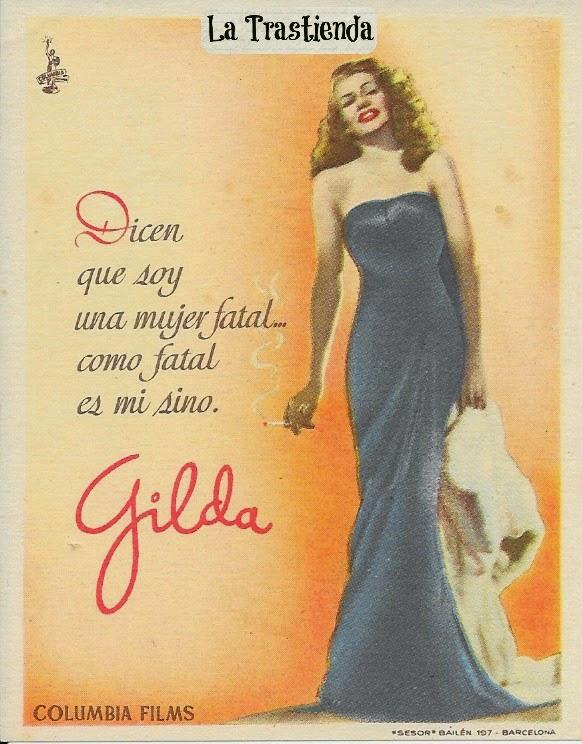 Programa de Cine - Gilda (Vertical) - Rita Hayworth - Glenn Ford
