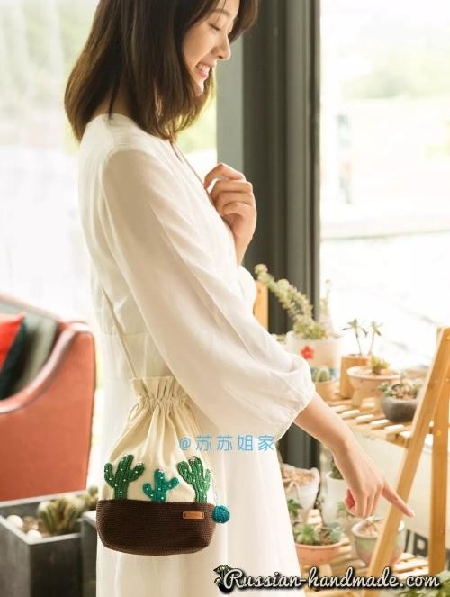 Вот такую симпатичную сумочку-мешочек вы можете создать своими руками