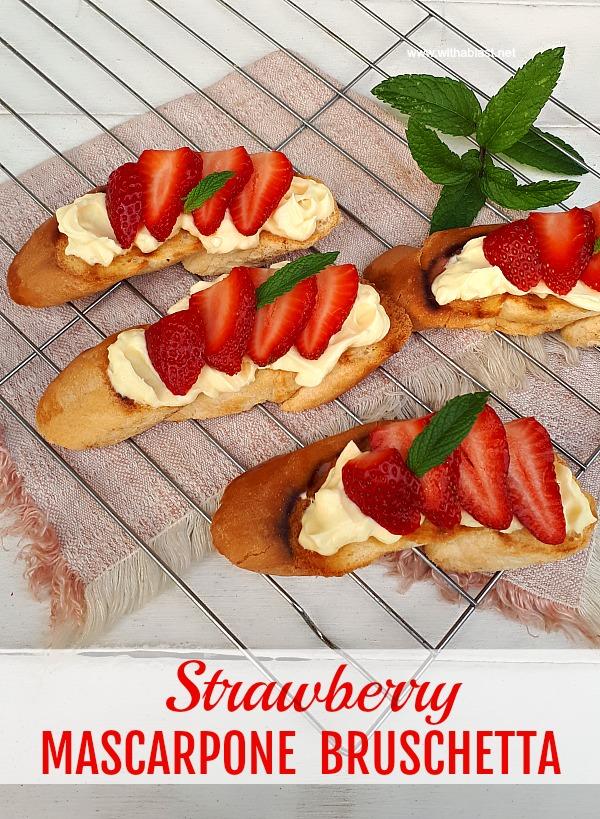 Delicious for breakfast, brunch, a snack or even for dessert ~ minutes to make #Bruschetta  #Brunch #Breakfast #QuickSnack
