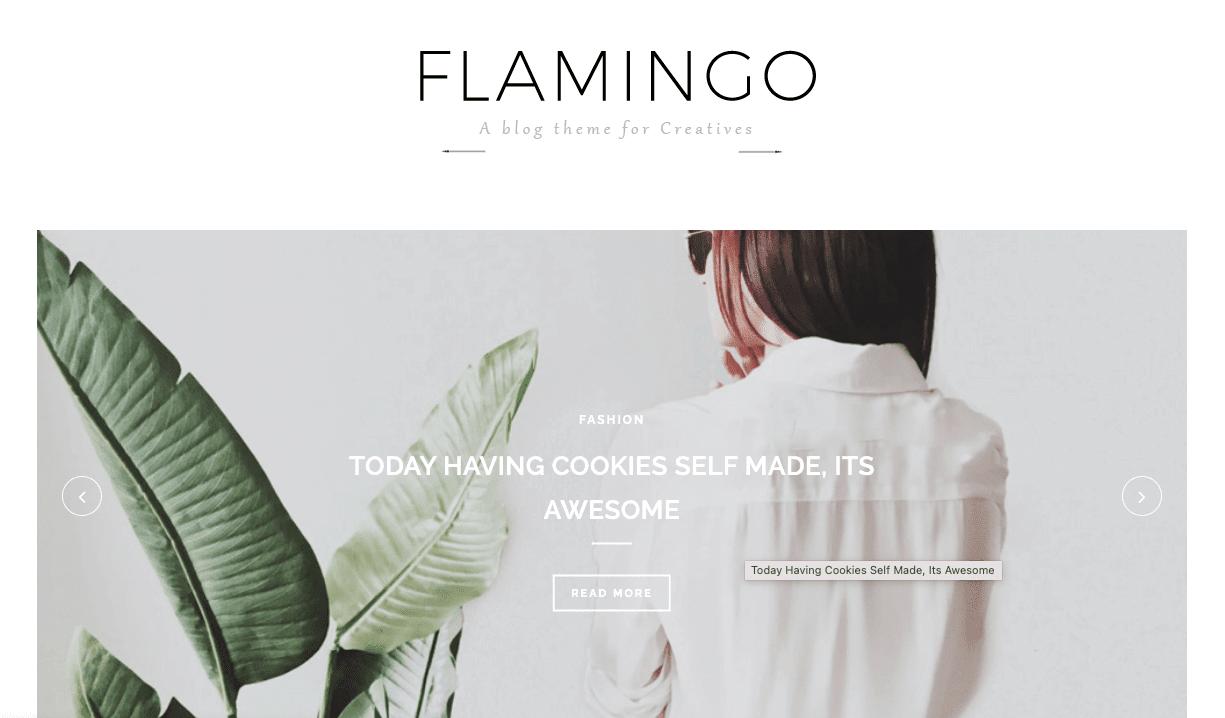 Flamingo v1.0 - Responsive Fashion Blogger Template