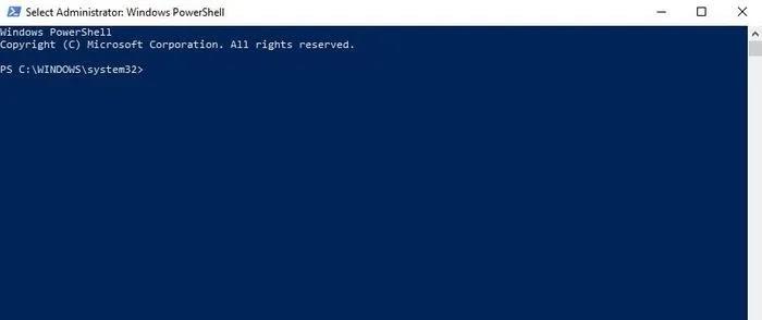 إصلاح لصق النسخ لا يعمل Windows Powershell Admin اكتب الأمر