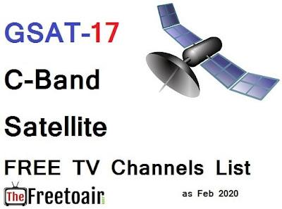 GSAT 17 satellite, G SAT 17 frequency, G Sat-17 channels list, GSAT 17 position