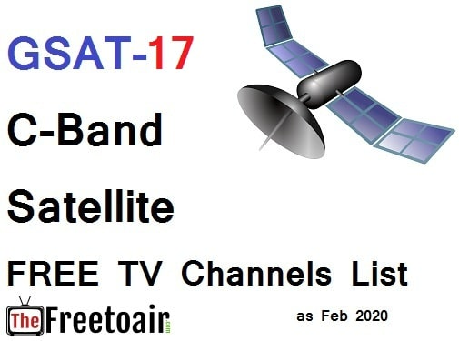 GSAT-17-93.5°E || C-Band Satellite FREE TV Channels List - 2021