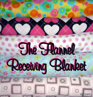 A sewing tutorial for making flannel receiving blankets