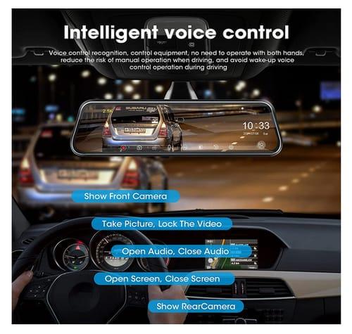 Jansite Smart Voice Control 2.5K Mirror Dash Cam