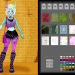 Pastel Zombie dress up game
