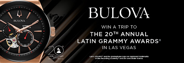 Zales and Bulova want you to enter once to win a vacation to Las Vegas, where you'll get to attend the 20th Annual Latin Grammy Awards!