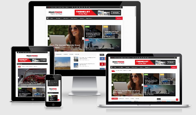 Magpress Responsive News & Magazine Blogger Template