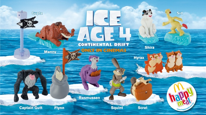 A Day In A Zoider S World Happy Meal Australia Ice Age 4 Continental Drift