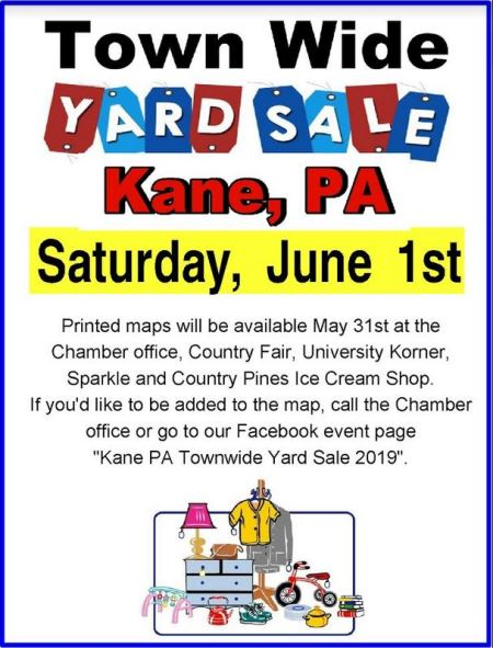 6-1 Town Wide Yard Sale Kane, PA