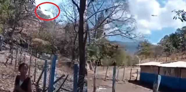 Video.- Helicópteros Militares llegan a rescatar a personas que se encontraban atrapadas en poblado ante arribo de La Familia Michoacana