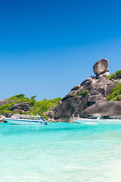 Пляж островов Симилан в Пханг Нга в Таиланде