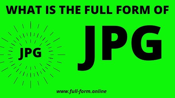 JPG  extension Full Form in computer