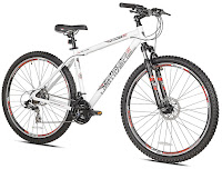 """Kent Hawkeye 29er Mountain Bike, with 18"""" aluminum frame, 29"""" wheels, hardtail front suspension system, 21 speed Shimano Rapid Fire shifters, disc brakes"""