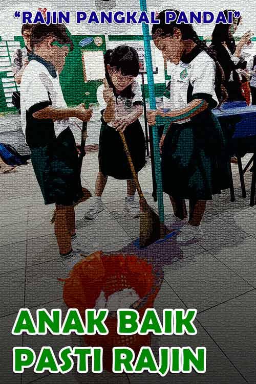 poster kebersihan lingkungan sekolah