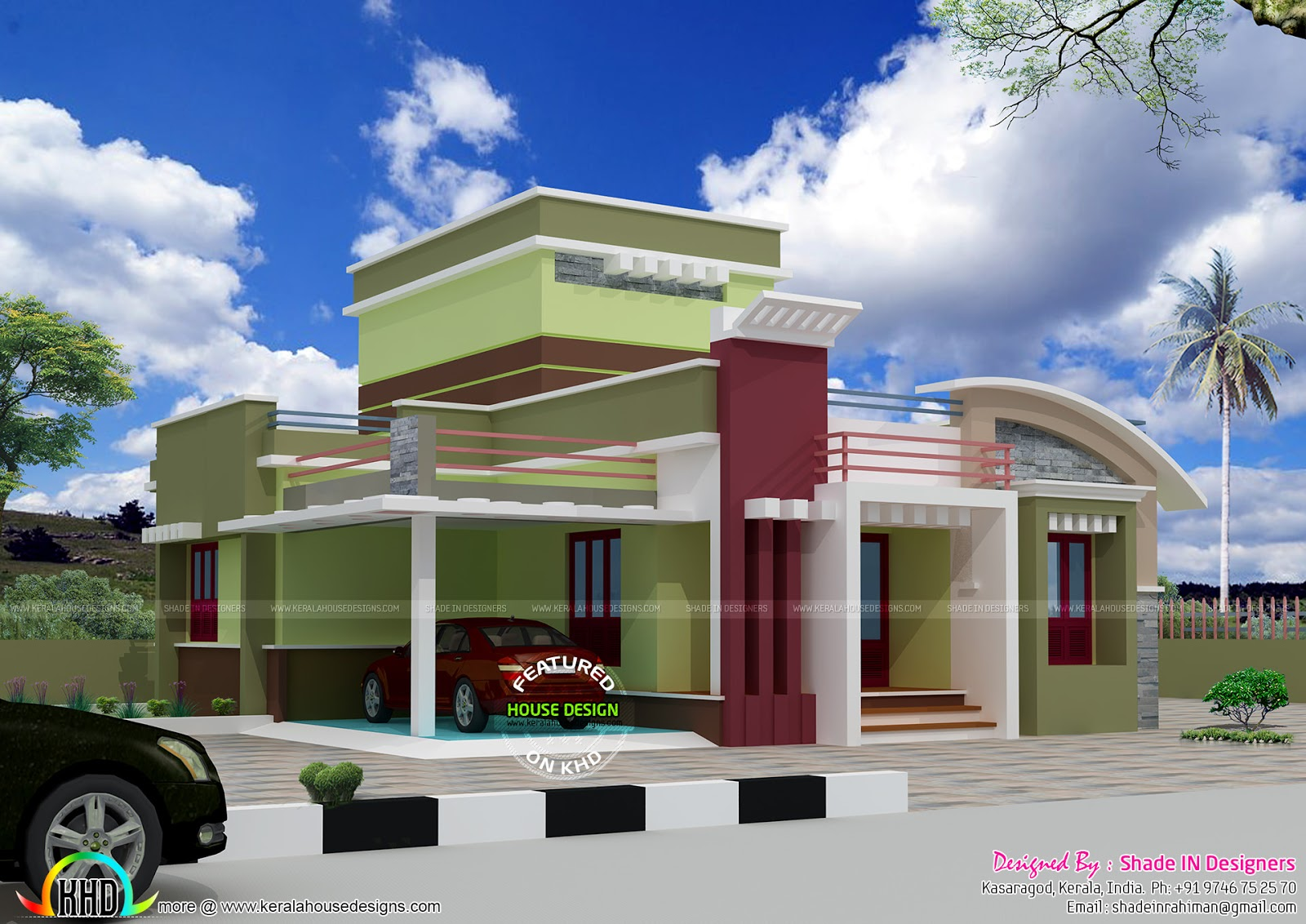 Low Budget Single Floor Home Kerala Home Design And
