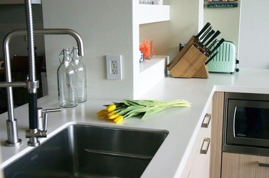 elegant solid surface countertops