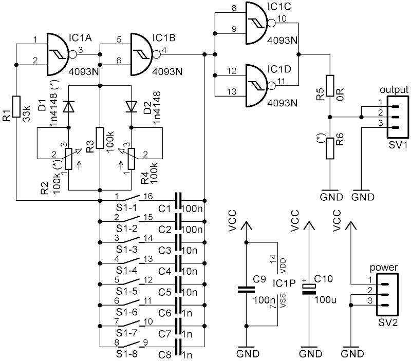 simple laboratory generator, circuit