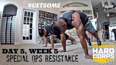 Day 5 Week Five 22 Minute Hard Corps, 22 Minute Hard Corps Special Ops Resistance, Beachbody PT Sandbag, Beachbody Sandbag Workout, Wreck Bag workout, 22 Minute Hard Corps Challenge