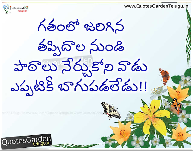Best telugu Life quotes about mistakes