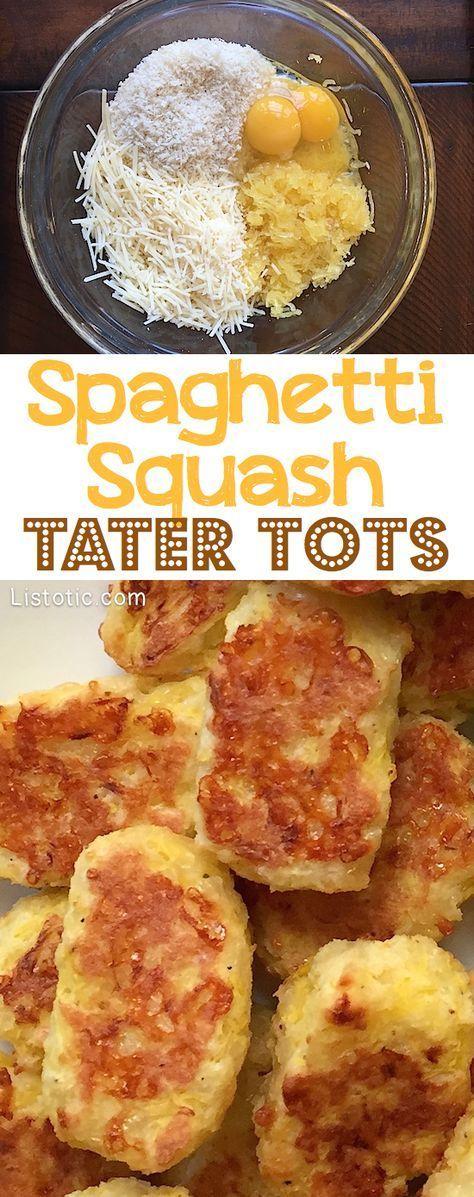 Spaghetti Squash Tater Tots