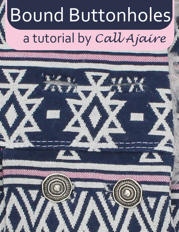 Bound Buttonholes - tutorial main image