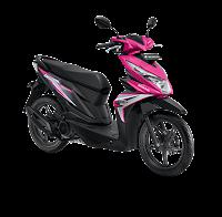 Honda BeAT Sporty eSP CBS ISS Fusion Magenta Black