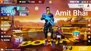 Amit Bhai( Desi Gamers) Free Fire Id, Lifetime Stats and His Youtube Channel....
