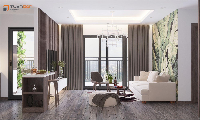 Thiết kế nội thất căn hộ 3 phòng ngủ chung cư Phương Đông Green Park - Số 1 Trần Thủ Độ