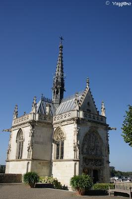 Chapelle Saint Hubert nel complesso del castello Reale di Amboise