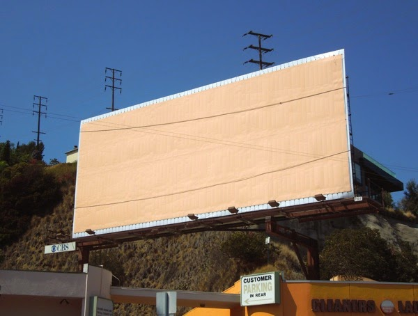 Light Tape billboard installation Sunset Strip