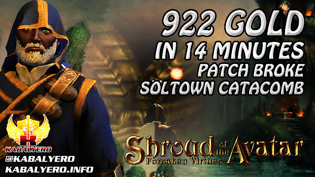 Shroud Of The Avatar Gameplay 2016 ★ 922 Gold In 14 Minutes In The Broken Catacombs Of Soltown