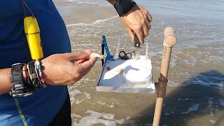 como fazer uma secretária de pesca de praia com sucção