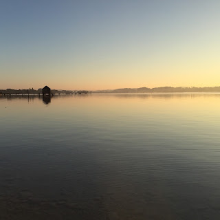 Der Ammersee am frühen Morgen