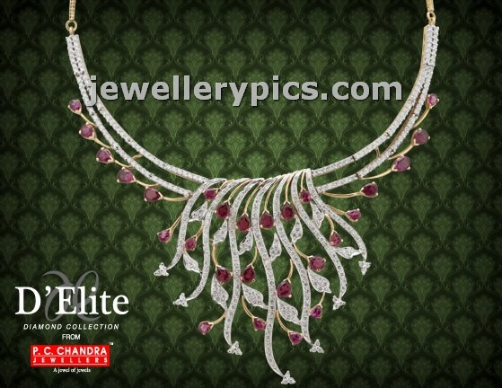 D Elite Diamond Necklaces By Pc Chandra Jewellers Latest